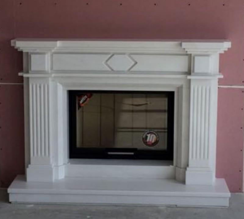 portal biały marmur